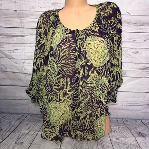 MM Couture Miss Me green/purple oversized top M